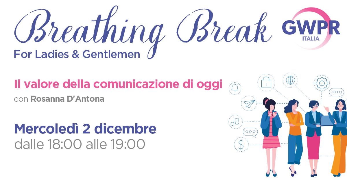 2 Dicembre | BREATHING BREAK con Rosanna D'Antona