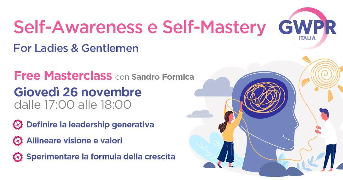 26 Novembre | FREE MASTERCLASS con Sandro Formica
