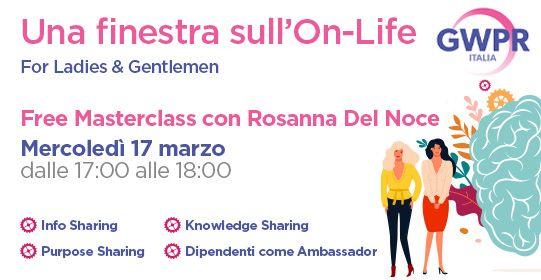 17 Marzo | FREE MASTERCLASS con Rosanna Del Noce