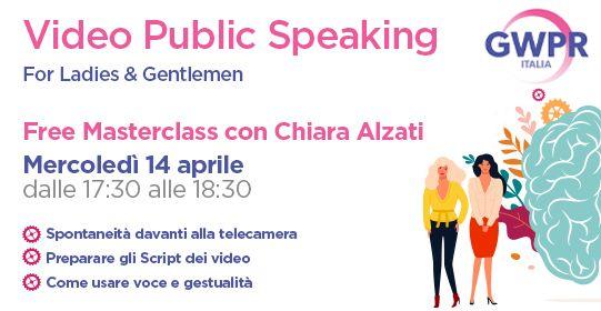 14 Aprile | FREE MASTERCLASS con Chiara Alzati