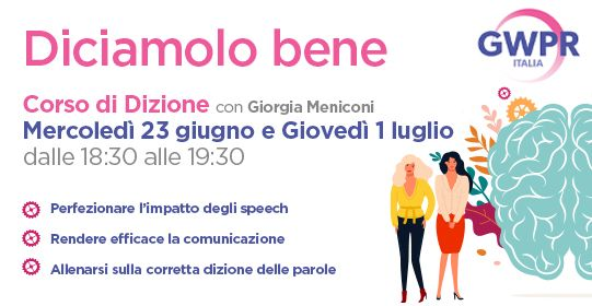 23 giugno e 1 luglio | Corso di DIZIONE con Giorgia Meniconi